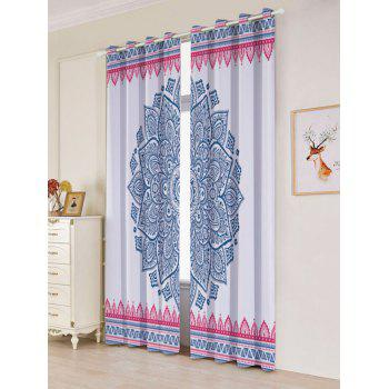 Bohemian Mandala Blackout 2 Panels Set Window Curtains - COLORFUL W53 INCH * L96.5 INCH