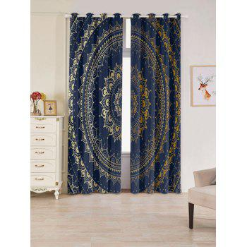 Bohemian Mandala Printed Blackout Window Curtains