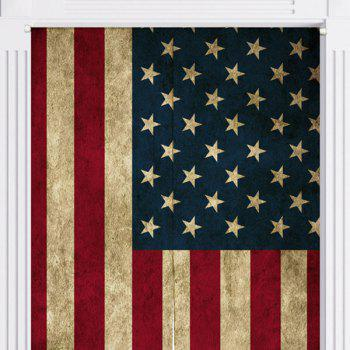 USA Flag Print Decorative Door Curtain - US FLAG US FLAG