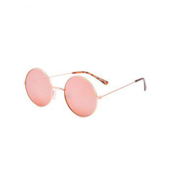 Anti UV Round Sunglasses with Box - PINK PINK