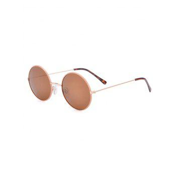 Anti UV Round Sunglasses with Box - COFFEE COFFEE
