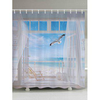 Beach Balcony Print Bathroom Shower Curtain