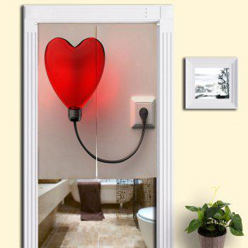 Heart Shape Balloon Light Printed Home Door Curtain - COLORMIX W33.5 INCH * L47 INCH