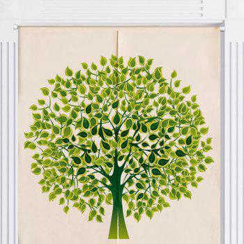 Home Product Tree Print Artistic Door Curtain - W33.5 INCH * L35.5 INCH W33.5 INCH * L35.5 INCH