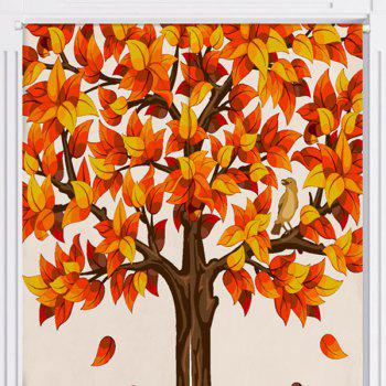 Home Product Fall Tree Printed Door Curtain - W33.5 INCH * L35.5 INCH W33.5 INCH * L35.5 INCH