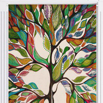 Artistic Colorful Tree Pattern Home Product Door Curtain - W33.5 INCH * L47 INCH W33.5 INCH * L47 INCH