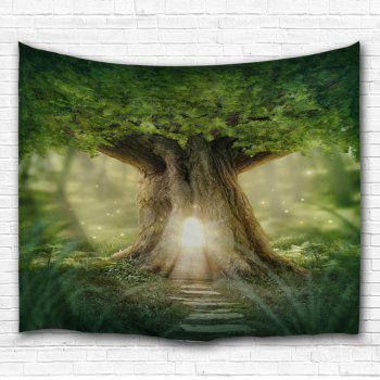 Home Decor Mew Big Tree Wall Hanging Tapestry - GREEN W71 INCH * L91 INCH