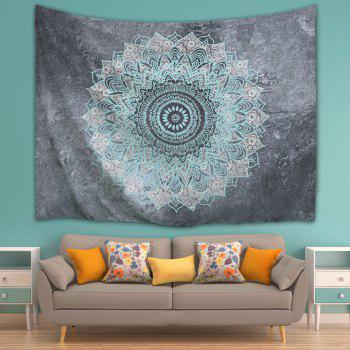 Mandala Wall Art Hanging Beach Throw Tapestry - GRAY W71 INCH * L91 INCH