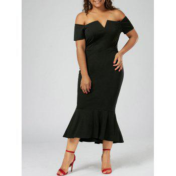 Mermaid Off The Shoulder Plus Size Dress