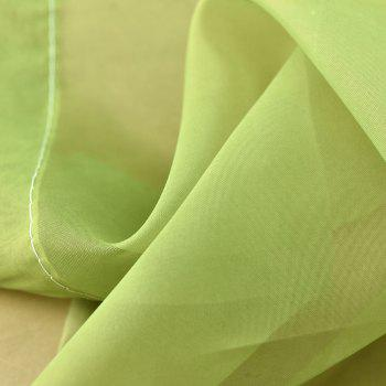 1PC Gradient Color Voile Window Curtain - GREEN W39 INCH * L98.5 INCH