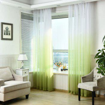 1PC Gradient Color Voile Window Curtain - GREEN GREEN