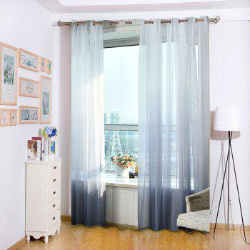 1PC Gradient Color Voile Window Curtain - SMOKY GRAY W59 INCH * L98.5 INCH