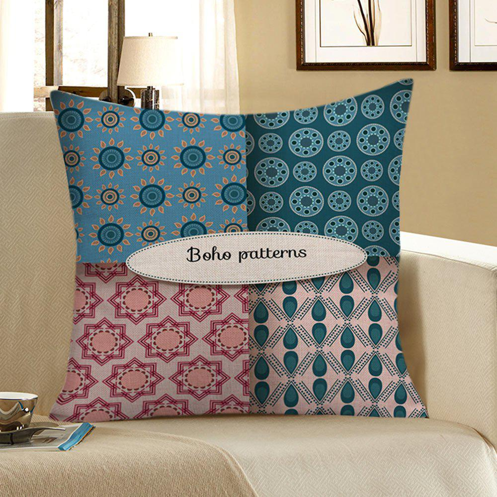 Decorative Boho Pattern Flower Pillow Case - COLORFUL 45*45CM
