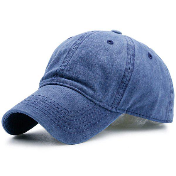 Lines Embroidered Nostalgic Color Baseball Hat - BLUE