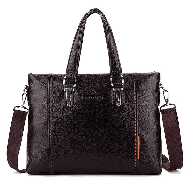 PU Leather Metal Embellished Tote Bag - BROWN