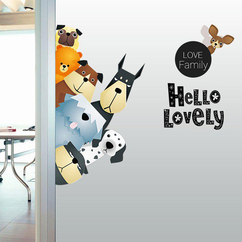 Animals Family Cartoon Kids Vinyl Wall Sticker kids draw animals