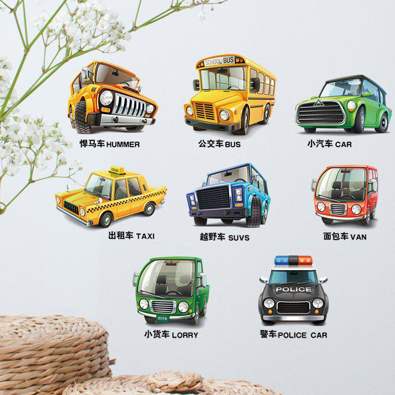 Removable Cartoon Car Vehicle Wall Art Sticker home decoration removable quote wall art sticker