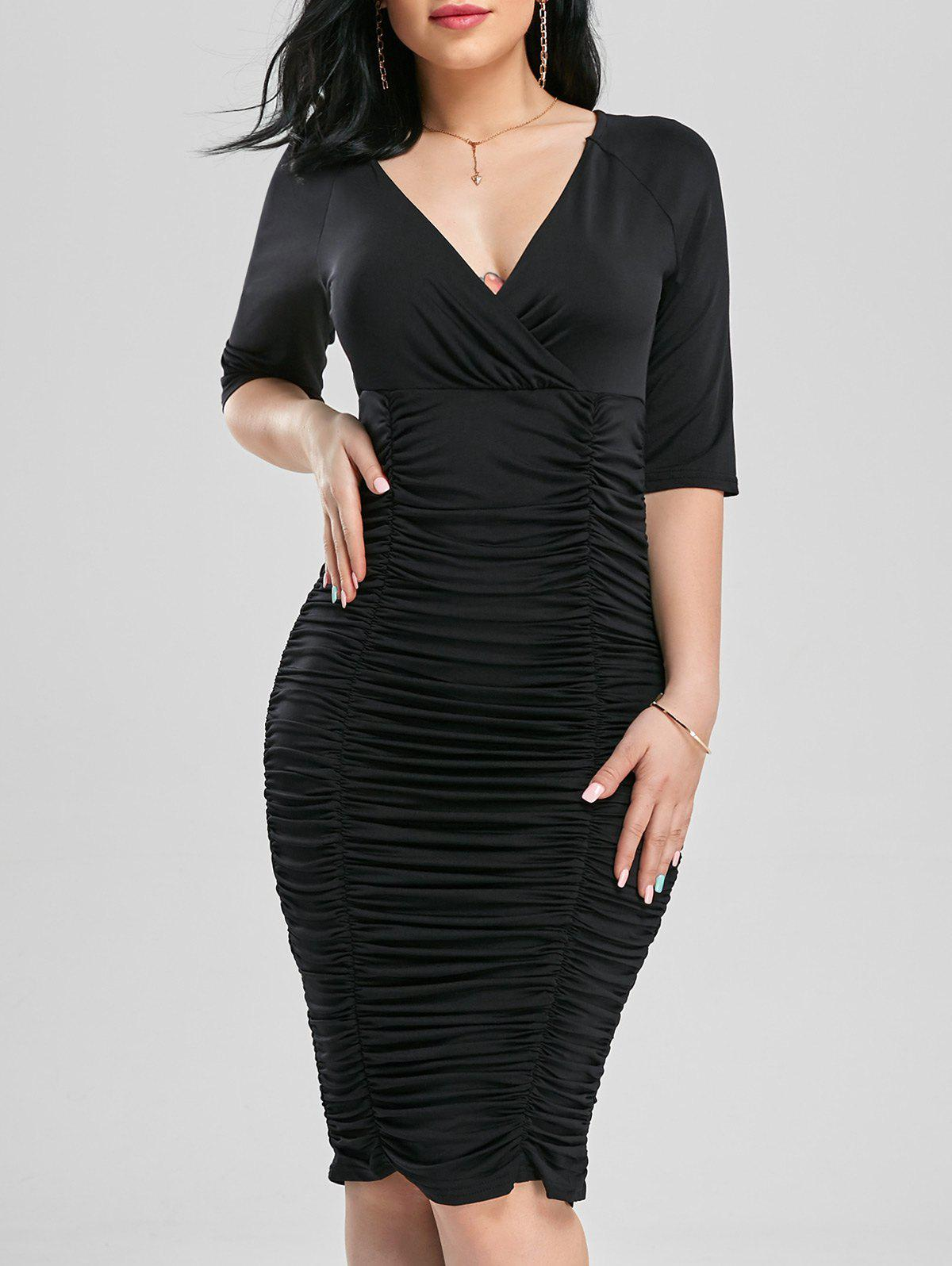 Robe de drap Bodycon - Noir L