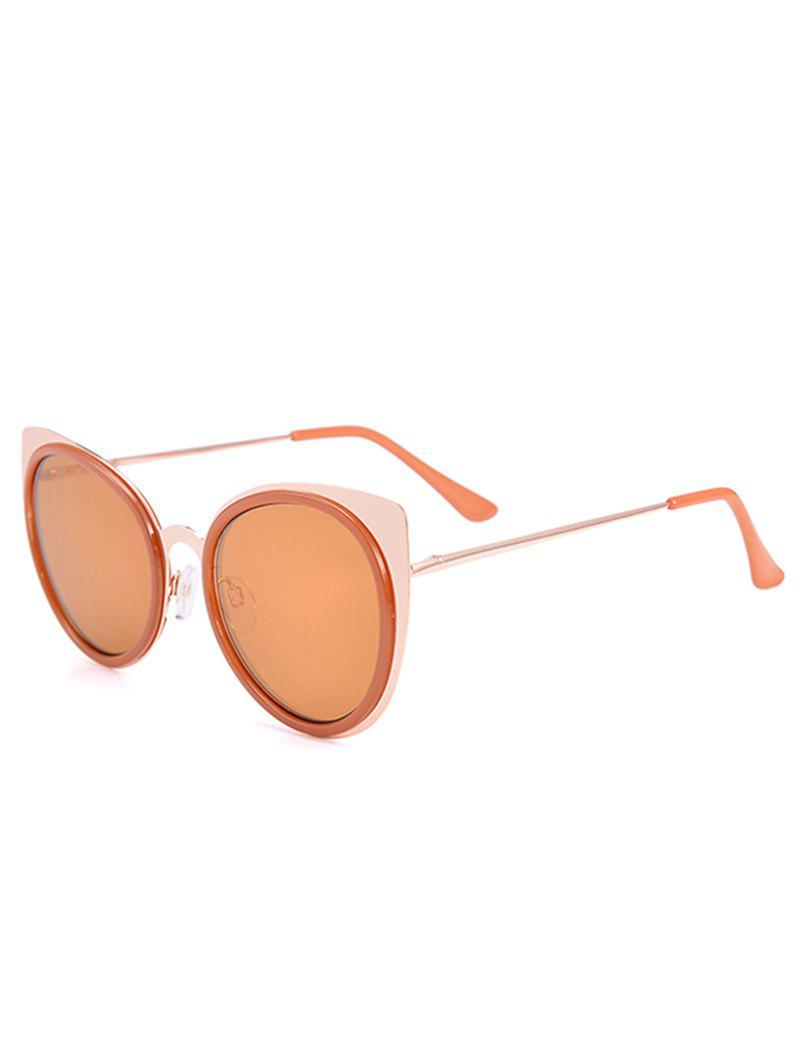 Cat Eye UV Protection Sunglasses and Box - COFFEE