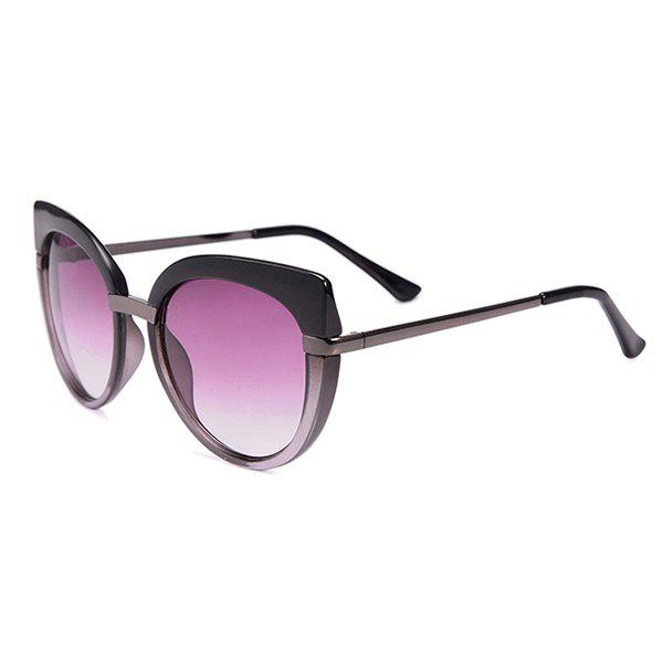 Cat Eye Anti UV Oversized Sunglasses and Box - BLACK