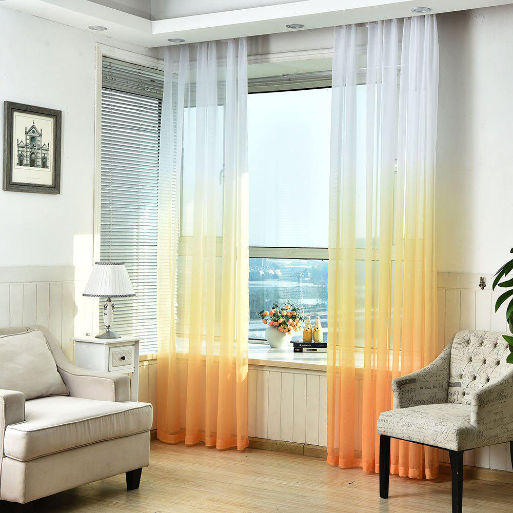 1PC Gradient Color Voile Window Curtain - ORANGE W59 INCH * L98.5 INCH