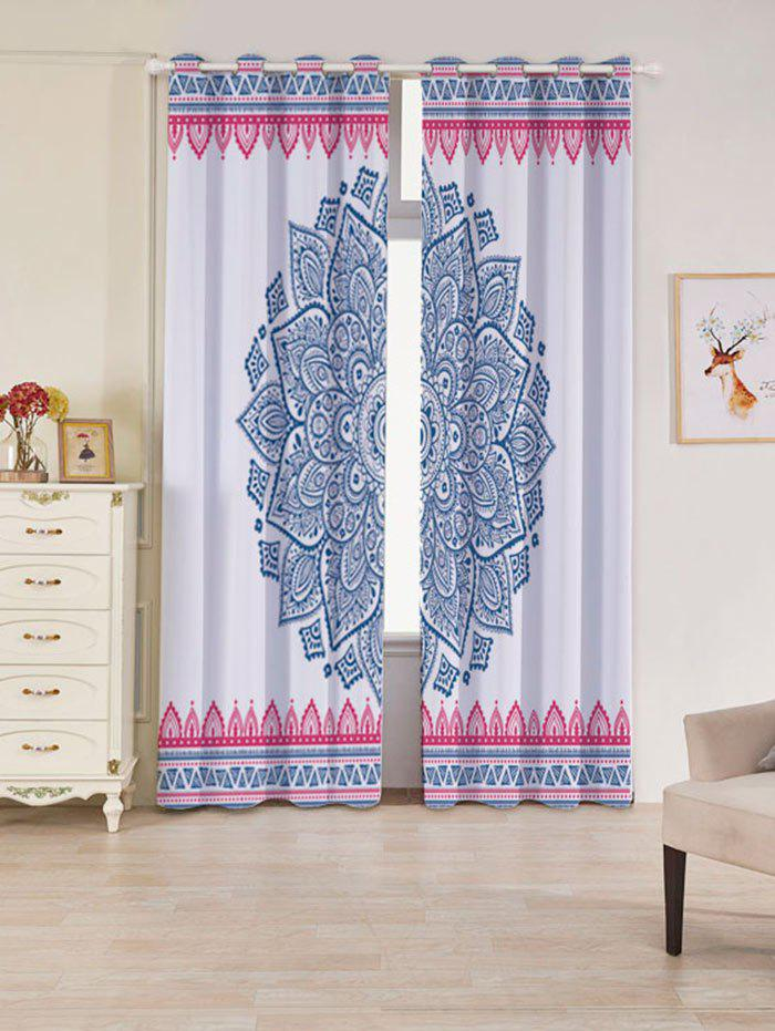Bohemian Mandala Blackout 2 Panels Set Window Curtains - coloré W53 INCH * L84.5 INCH