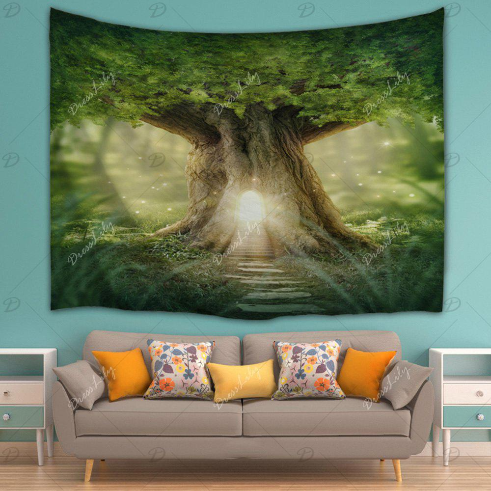 2018 Home Decor Mew Big Tree Wall Hanging Tapestry Green W
