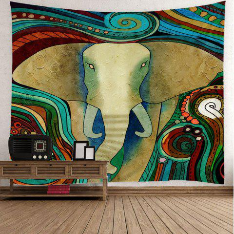Elephant Print Wall Art Tapestry - COLORFUL W59 INCH * L59 INCH