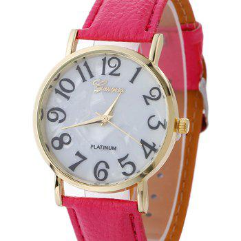 Marble Face Faux Leather Strap Watch - TUTTI FRUTTI