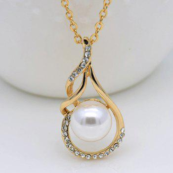 Rhinestoned Teardrop Ball Jewelry Set -  GOLDEN