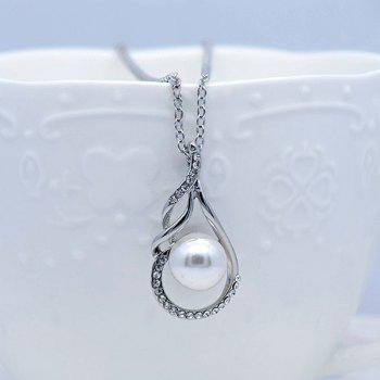 Rhinestoned Teardrop Ball Jewelry Set -  SILVER