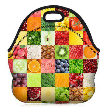 Food Print Lunch Tote Bag - FRUITS FRUITS