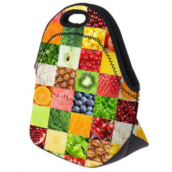 Food Print Lunch Tote Bag -  FRUITS