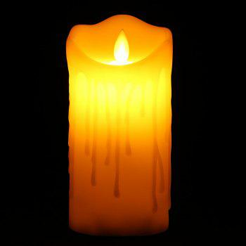 Electronic Swing Large Pillar Shaped Candle Night Light - OFF-WHITE H15CM