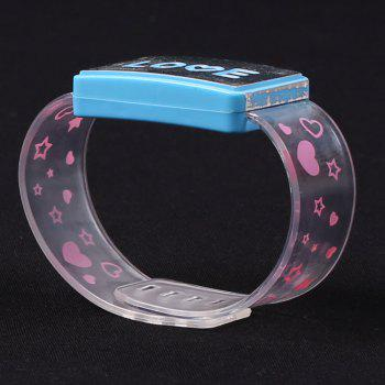 Party Decorated Watch Shape Flash Letter Light - BLUE BLUE