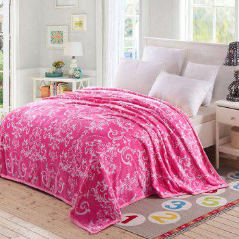 Flower Print European Style Soft Throw Blanket - PINK PINK