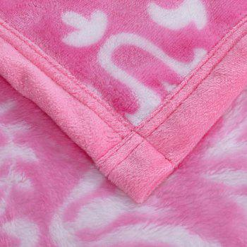 Flower Print European Style Soft Throw Blanket - PINK QUEEN