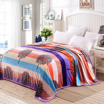 Money Tree Print Super Soft Nap Throw Blanket - COLORFUL QUEEN