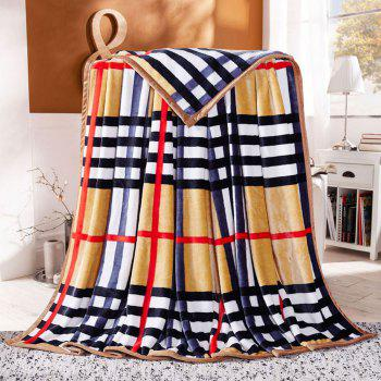 Plaid Soft Sofa Nap Urban Style Throw Blanket - QUEEN QUEEN