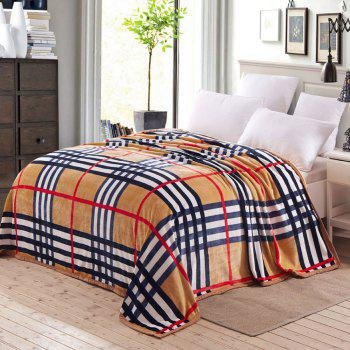 Plaid Soft Sofa Nap Urban Style Throw Blanket - CHECKED QUEEN