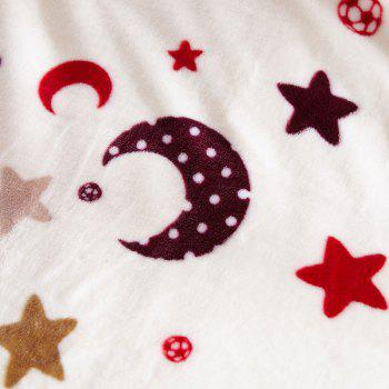 Moon Star Print Sofa Nap Throw Blanket - BEIGE BEIGE