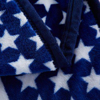 Star and Stripe Spring Summer Throw Blanket - BLUE QUEEN