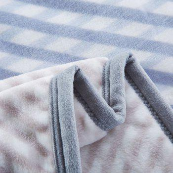 Star Print Spring Summer Soft Blanket - BLUE FULL