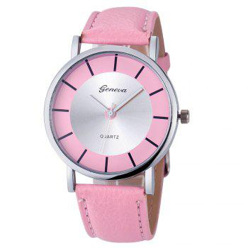 Faux Leather Analog Simple Watch