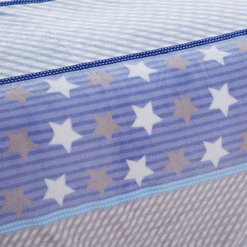Star Print Spring Summer Soft Blanket - BLUE QUEEN