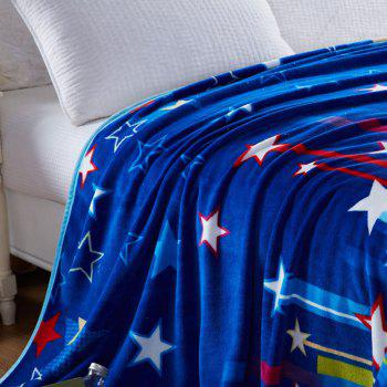 Stripe and Star Spring Summer Throw Blanket - FULL FULL