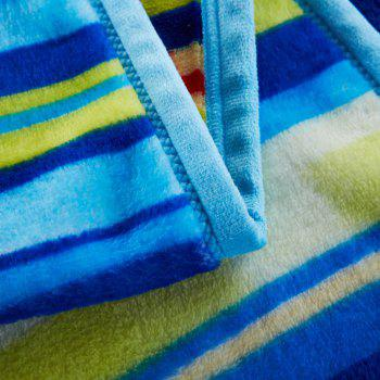 Stripe and Star Spring Summer Throw Blanket - BLUE QUEEN