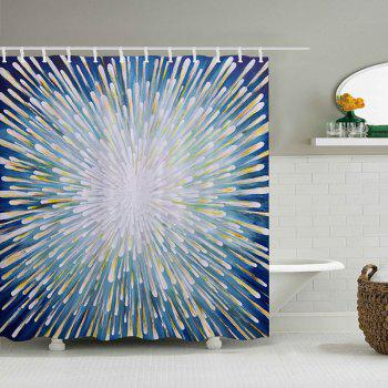 Meteor Shower Pattern Fabric Bathroom Shower Curtain - COLORMIX COLORMIX