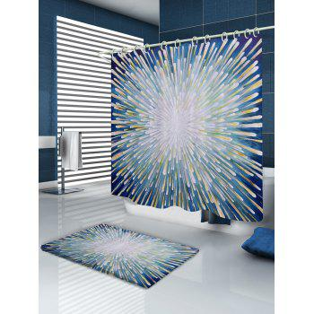 Meteor Shower Pattern Fabric Bathroom Shower Curtain - COLORMIX W71 INCH * L71 INCH