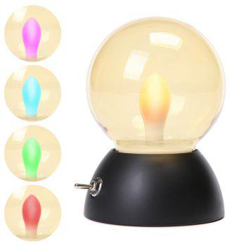 Retro Style USB Charging Bulb Colorful Night Light